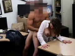 Big boobs woman pounded at...