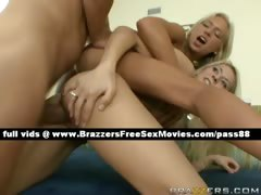 Two amateur blonde girls on...