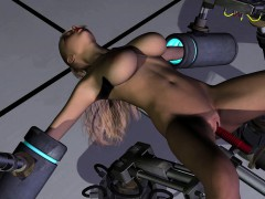 Busty 3D Babe Fucked by a...