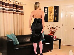 Pink pantyhose and super...