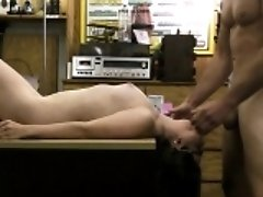 Amateur chick banged by...