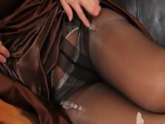 Black pantyhose and ultra...