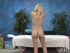 Beauty fucked after massage