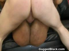 Black Slut Flat On Her Back...